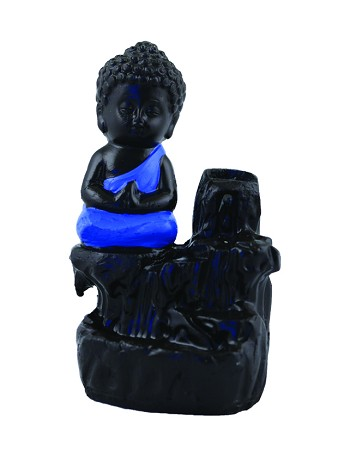 "Ceramic Buddha Back Flow Burner 5.5"" With 10 Cones Free"